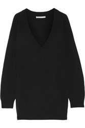Alexander Wang Oversized Wool And Cashmere Blend Sweater Black