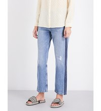 Mih Jeans Jeanne Straight High Rise Two Line