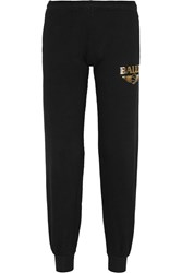 Brian Lichtenberg Basketballin Foiled Cotton Jersey Track Pants Metallic