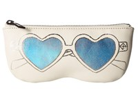Rebecca Minkoff Heart Sunnies Pouch Antique White Wallet Handbags