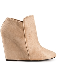 Christophe Lemaire Wedge Booties Nude And Neutrals