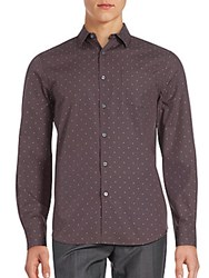 Perry Ellis Long Sleeve Cotton Shirt Chocolate