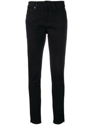 Mcq By Alexander Mcqueen Skinny Zip Detailed Jeans Black