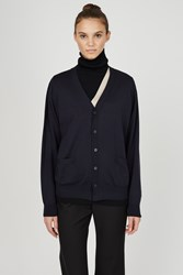 Toga Archives High Gage Knit Cardigan 1 Navy