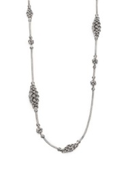 John Hardy Classic Chain Sterling Silver Short Knot Station Necklace