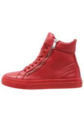 Boom Bap Celebration Hightop Trainers Triple Red