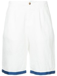 Kent And Curwen Contrast Trim Chino Shorts White