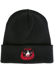 Dsquared2 Ribbed Angry Mascot Beanie Black