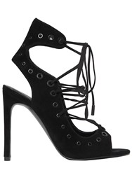 Kendall Kylie 100Mm Deanne Lace Up Suede Sandals