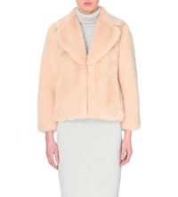 Whistles Kumiko Faux Fur Coat Cream
