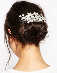 Love Rocks Floral Jewelled Hair Comb Clear