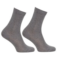 John Lewis Egyptian Cotton Ankle Socks Pack Of 2 Grey