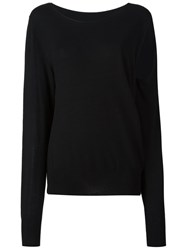 Maison Martin Margiela Mm6 Maison Margiela Slit Sleeve Knitted Blouse Black