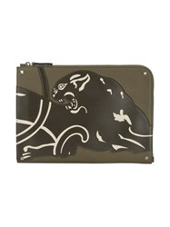 Valentino Panther Document Case Green