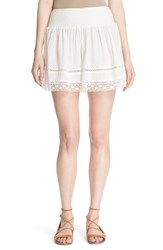 Women's Rebecca Taylor Lace Edge Cotton Shorts