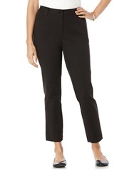 Rafaella Petite Slim Ankle Pants Black