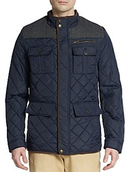 Vince Camuto Quilted Nylon Jacket Navy