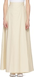 Awake A.W.A.K.E. White Wide Leg Trouser Skirt