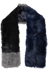 Iris And Ink Color Block Shearling Scarf