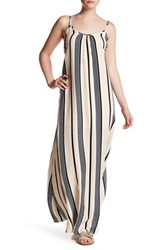 Lucca Couture Stripe Low Back Maxi Dress Multi