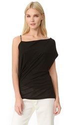 Barbara Bui One Shoulder T Shirt Black