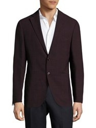 Pal Zileri Berry Wool And Linen Check Sportcoat