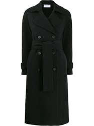 Harris Wharf London Double Breasted Coat Black