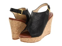 Matt Bernson Pique Black Puff Women's Wedge Shoes