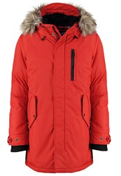 Schott Nyc Winter Coat Dark Red