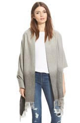 Women's Nordstrom Collection Ombre Cashmere Wrap Grey Grey Shade Combo