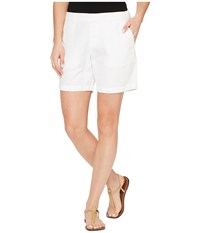 Michael Stars Linen Cotton Blend Walking Shorts White Women's Shorts
