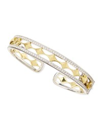 Jude Frances Silver And 18K Venetian Kite Cuff With Topaz Judefrances Jewelry White Yellow
