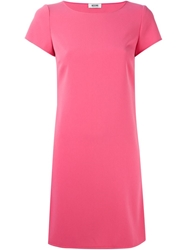 Moschino Cheap And Chic Cut Out Back Dress Pink And Purple