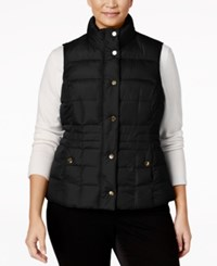 Charter Club Plus Size Quilted Puffer Vest Only At Macy's Deep Black