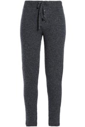 James Perse Cashmere Blend Track Pants Dark Gray