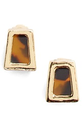 Lauren Ralph Lauren Faux Tortoiseshell Stud Earrings Brown