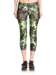 Zara Terez Some Kale Printed Capri Leggings Kale Green