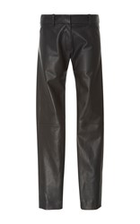 Alexis Mabille Black Organic Leather Leggings