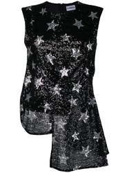 Ainea Sequined Star Blouse Black