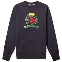 Tommy Jeans 3D Embroidered Crest Crew Sweat Blue