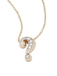 Alex Woo Little Letter Diamond And 14K Yellow Gold Pendant Necklace