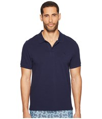 Vilebrequin Pique Polo With Contrast Collar Navy White Men's Clothing Blue