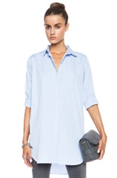 Mih Jeans Oversized Cotton Top In Blue