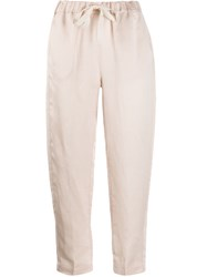 Semicouture Cropped Tapered Leg Trousers 60