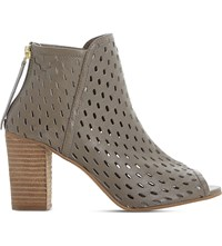 Dune Iola Perforated Leather Sandals Taupe Leather