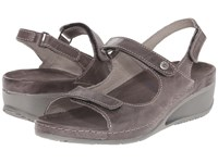 Wolky Tsunami Slate Cartago Leather Women's Sandals Brown