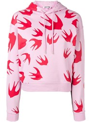 Mcq By Alexander Mcqueen Swallow Hoodie Pink