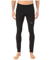 Nike Dri Fit Thermal Tights Black Reflective Silver Men's Workout