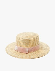 Lack Of Color The Paradiso Straw Boater Pastel Pink