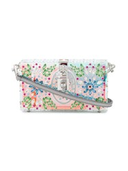 Dolce And Gabbana Box Crystal Embellished Clutch Women Calf Leather Crystal Plexiglass One Size